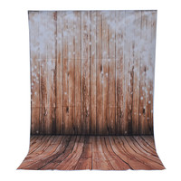 3x5ft Wooden Wall Floor Photography Backdrops photo Studio Props Vinyl kids Photography background cloth 100cm x 150cm