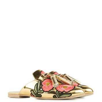 Jeffrey Campbell Mirror Mule in Gold