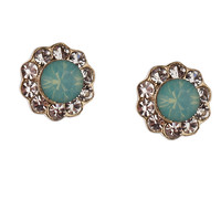 **STONE FLOWER STUD EARRINGS BY ORELIA