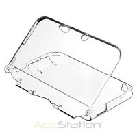Crystal Cover Hard Shell Case Clear For Nintendo 3DS XL LL
