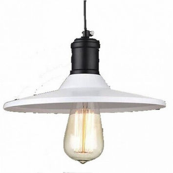 White shade vintage industrial edison bulb pendant lamp light bar counter commericial lamp
