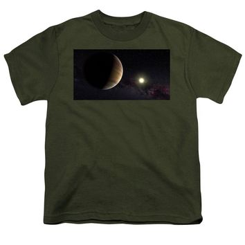 Solar System Watercolor Series No 1a - Youth T-Shirt