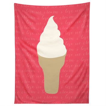 Allyson Johnson I Love Ice Cream Tapestry