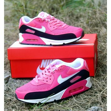 Best Online Sale Nike Air Max WMNS 90 LE GS Black Pink Running Shoes Sport Shoes 63139