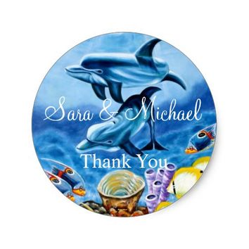 Scuba Wedding Thank You Label