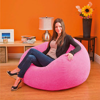 Lazy inflatable sofa chaise lounge chair flocking single [8889225676]