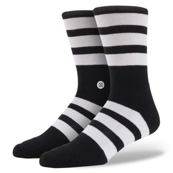 Stance Shift Black & White Striped Socks