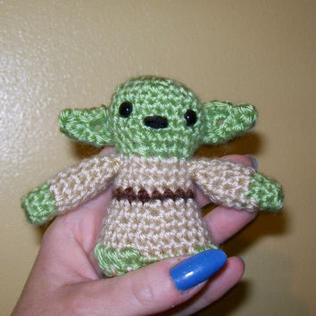 Crocheted Jedi Master Yoda  Star Wars  Stuffed Animal  by meddywv