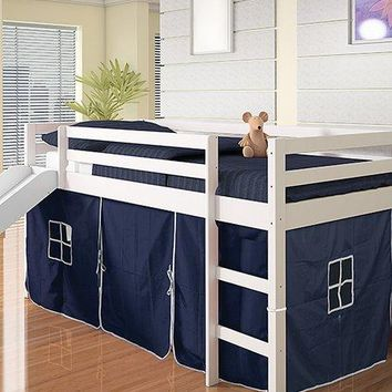 Thomas Twin Bed with Slide and Blue Tent