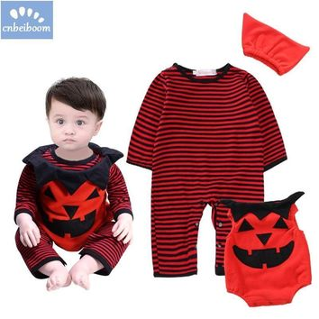 2018 Halloween costume for kids baby Pumpkin Cosplay Outfit For Boy Girls Toddler infant  Dress Cute Children party Clothing Set