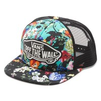 Vans Floral Beach Girl Trucker Hat (Smoked Pearl/True White)