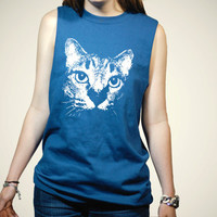 Cat Face Muscle Tee