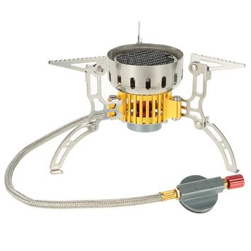 Mini Ultralight Outdoor Stove Infrared Camping Stove Portable Furnace Collapsible Windproof Gas Stove for Cookout Picnic