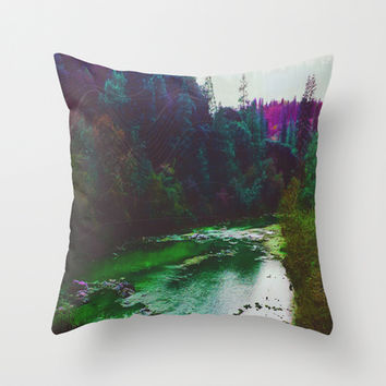 Earth Sounds Throw Pillow by DuckyB (Brandi)