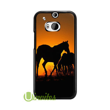 Animal Wild Horse Coupl  Phone Cases for iPhone 4/4s, 5/5s, 5c, 6, 6 plus, Samsung Galaxy S3, S4, S5, S6, iPod 4, 5, HTC One M7, HTC One M8, HTC One X