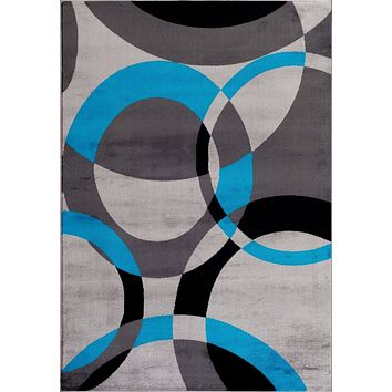 2011 Turquoise Geometric Contemporary Area Rugs