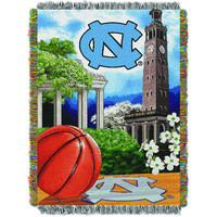 """UNC College """"""""Home Field Advantage"""""""" 48x60 Tapestry Throw"""