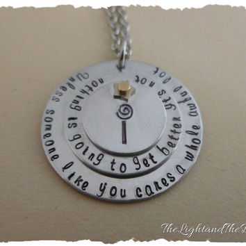 Hand Stamped Jewelry- Inspired by The Lorax - Unless - Jewelry - Gift Idea - Triple Stack - One of a Kind