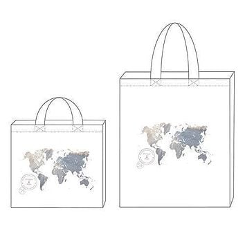 Wanderlust World Map Personalized Tote Bag Tote Bag with Gussets (Pack of 1)