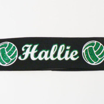 Personalized Volleyball Headband, Custom Volleyball Headband, Sports Headband, Girl Gift, Teen Girl Headband, Stretch Headband, Volleyball