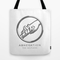 Abnegation Tote Bag by Amber Rose | Society6