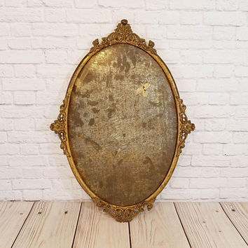Vintage Large Ornate Metal Frame