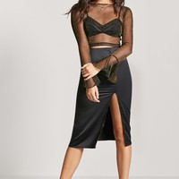 Metallic Mesh Crop Top