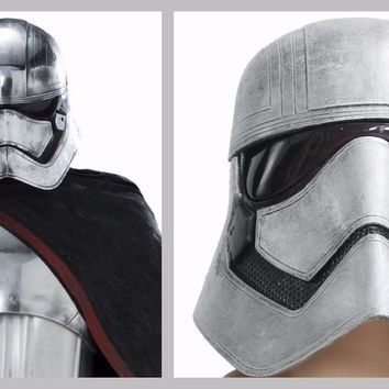 Star Wars Mask Captain Phasma Helmet Full Head COSplay Halloween Headwear Props Replica Soft Resin