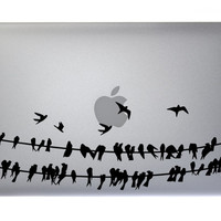 Birds on a wire - Vinyl Decal Apple Mac Macbook Laptop