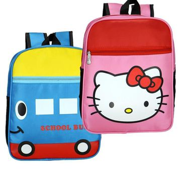 Cute baby fashion backpack Hello Kitty cartoon kids small school bags children travel bag for kindergarten boy girls candy bags