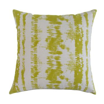 Tie-Dye Square Printed Accent Pillow Cover - Pear Green