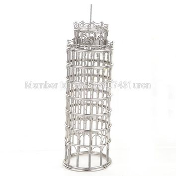 FREE SHIPMENT J12 TOWER OF PISAS LEANING SCULPTURE/MODEL TAINLESS HAND-MADE ART CRAFTS WEDDING&BIRTHDAY&HOME&OFFICE&GIFT&PRESENT