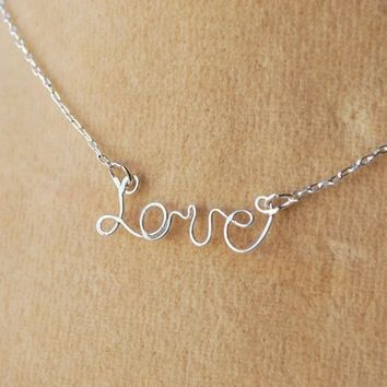 14k Gold filled sterling silver personalized name custom wire necklace