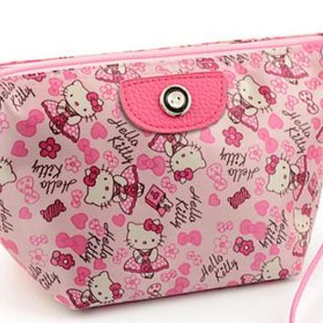New Hello kitty make up bag Handbag Purse Case EX-9671