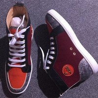 Christian Louboutin CL Suede Style #2247 Sneakers Fashion Shoes Best Deal Online
