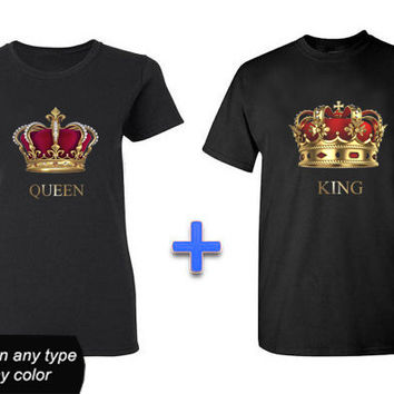 custom king and queen , Hoodie Girl, Awesome Hoodie, T shirt, T shirt Girl, T shirt Mens, Funny Hoodie, Funny T shirt