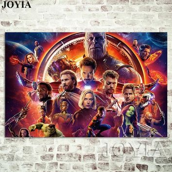 Marvel Avengers Infinity War Poster 2018 Film New Prints Superheroes Alliance Wall Posters Bar Room Decor Canvas Art Pictures
