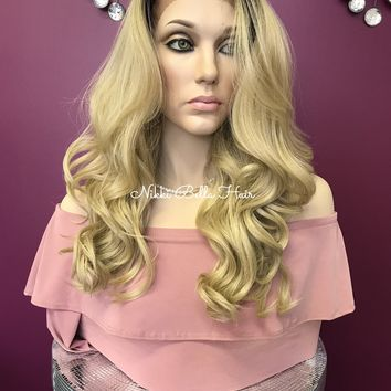 Ash Blond ombre' lace front wig | Raelyn
