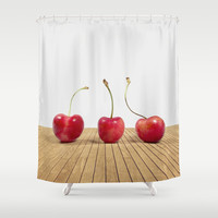 Cherries Shower Curtain by Dena Brender Photography