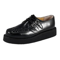 T.U.K. TUK A6806 Shoes Creeper Mondo Lo Sole Creepers Black Real Leather Brothel Shoe