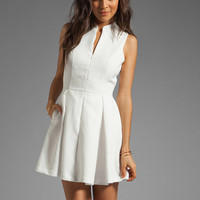 Dolce Vita Ashelle Snake Jacquard Dress in White