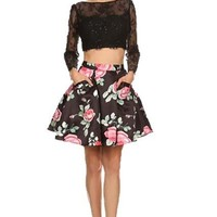 Prom  Cocktail Homecoming Short 2-Pieces Dress