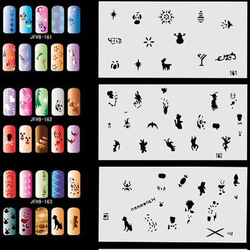 20pcs Airbrush Stencil Sheets Designs Paint Pages .- Halloween, Christmas,