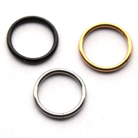 1.2x8/10mm 16G Nostril Nose Ring Unisex Fake Lip Ear Nose Cartilage Septum Ring Hoop Stud Steel No Piercing Clip on Earrings