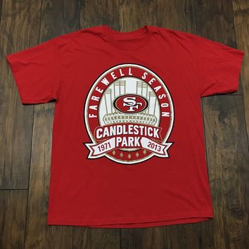 Unbranded 1971 2013 San Francisco 49ers Forty Niners Candlestick Nfl Farewell Shirt Men Xl Size Xl $25