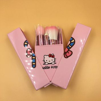 Teen Girls Cute - Hello Kitty Makeup Brush Set
