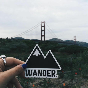 Traveler Kit and Co Sticker Wander Adventure Travel Decal Car Laptop Road trip Explore Wanderlust Wunderlust