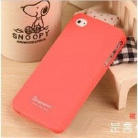 Peach Red Profusion Candy Color Silicone Rubber Protector Protective Case Cover for iPhone 4 4G 4S