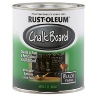 Rust-Oleum Specialty, 30 oz. Flat Black Chalkboard Paint, 206540 at The Home Depot - Mobile