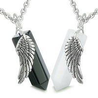 Amulets Balance Energy Love Couple or Best Friends Magic Angel Wings Crystal Poi